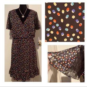 SANGRIA (18W) Dress- Flutter sleeves w/ lace EUC !